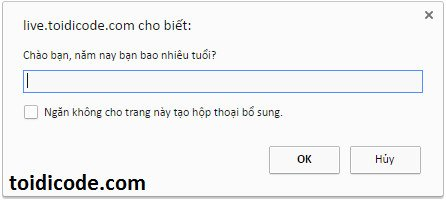 prompt trong javascript