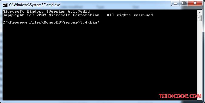 Cấu hình mongoDB