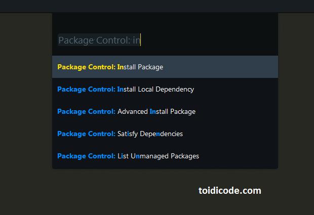 cài đặt sftp package