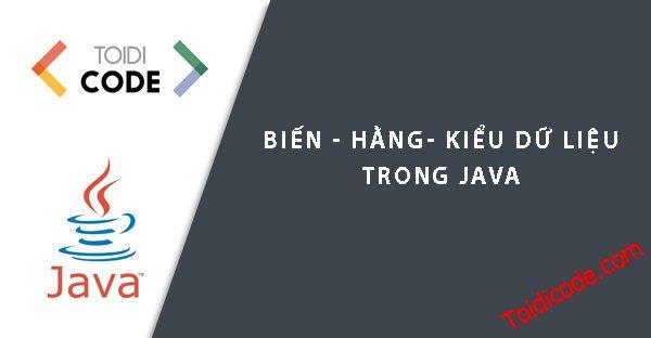 Bài 4: Biến Trong Java